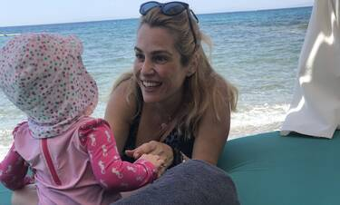 Στιγμές χαλάρωσης της Τζένης Μπότση στην Αθηναϊκή Ριβιέρα!