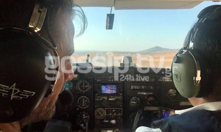 Γιώργος Αγγελόπουλος: Κι όμως! Πήγε στην Πάρο με ιδιωτικό αεροσκάφος (Pics)