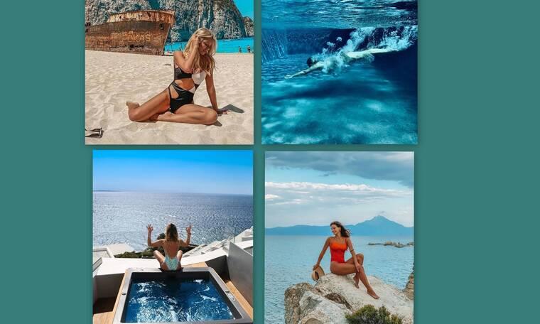 Οι διακοπές των celebrities και οι βουτιές σε παραλίες και πισίνες (Photos)