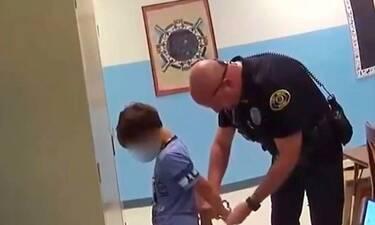 Αστυνομικοί πέρασαν χειροπέδες σε 8χρονο παιδί γιατί χτύπησε τη δασκάλα (video)