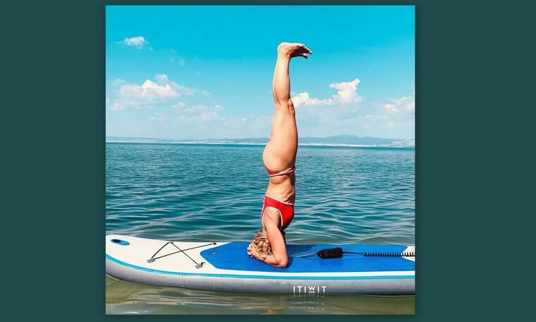 Η απίθανη στάση Ελληνίδας ηθοποιού πάνω σε σανίδα! (Photos)