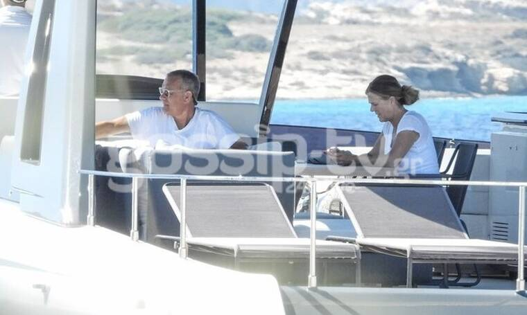 Hanks - Wilson: Οι ξέγνοιαστες στιγμές και η βόλτα με σκάφος στα Κουφονήσια