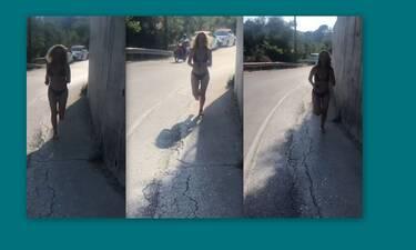 «Άναψε φωτιές» στην Κέρκυρα – Έτρεχε στο δρόμο φορώντας το μπικίνι της