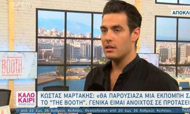 Κώστας Μαρτάκης: «Ήταν πολύ ωραία εμπειρία το The Booth» (video)