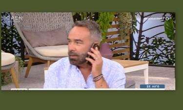 Γρηγόρης Γκουντάρας: To ξαφνικό τηλεφώνημα on air του γιου του (Video)
