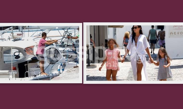 Σρόιτερ - Μπούκη: Στις Σπέτσες με σκάφος – Οι κόρες τους είναι κούκλες!