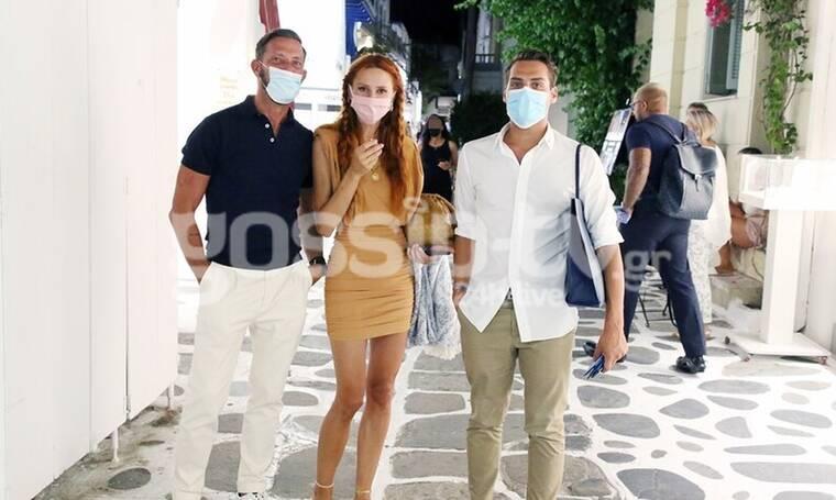 Καζαντζόγλου: Με τη μάσκα της και με summer στυλ στα σοκάκια της Μυκόνου