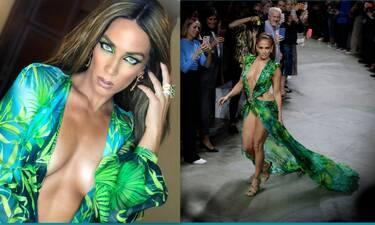 Στικούδη: Φόρεσε το jungle φόρεμα 20 χρόνια μετά την εμφάνιση της Lopez