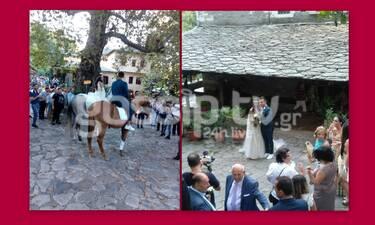 Με άλογο και κλαρίνα στο γάμο της η Βούλγαρη-Γιατί δεν πήγε η κουμπάρα Κ. Καινούργιου