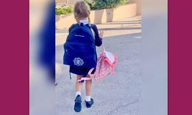 Μαρίνα Παντζοπούλου: Το όνομα στην τσάντα, το κολατσιό και η στολή του σχολείου