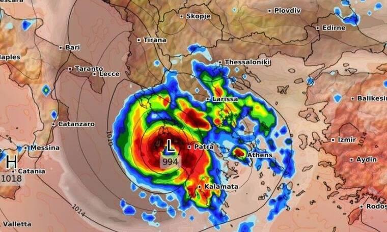 Ιανός: Αυτή είναι η τελική πορεία του! Ποιες περιοχές θα βρεθούν στο «μάτι» του κυκλώνα