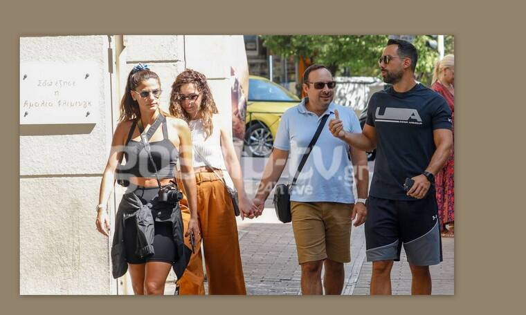 Σάκης και Παναγιώτης Τανιμανίδης: Βόλτα στο Κολωνάκι με τις γυναίκες τους!