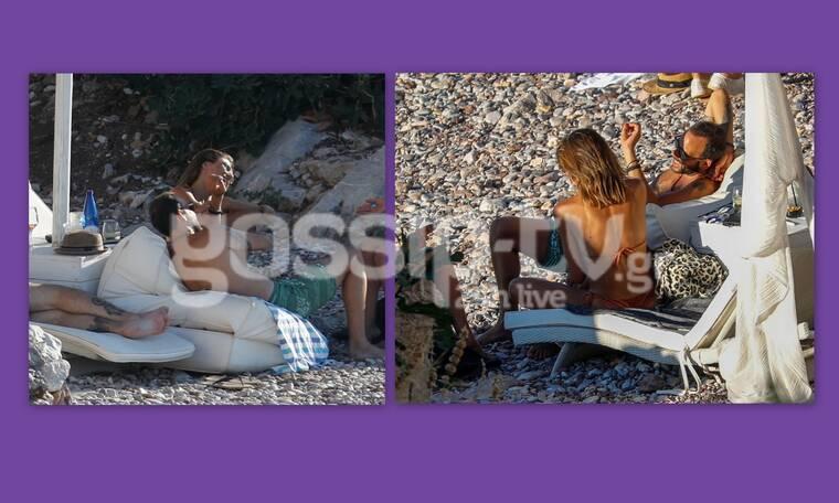 Μουζουράκης: Αραχτός στην παραλία – Οι φωτό της συντρόφου του με μπικίνι
