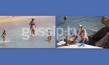 Χρουσαλά - Πατίτσας: Ατελείωτο το καλοκαίρι! Στη θάλασσα με τα παιδιά τους