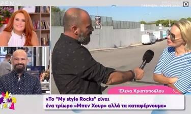 Η Χριστοπούλου σχολιάζει την άτυχη στιγμή του Σκουλού δίπλα στον άστεγο