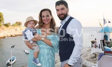 Κλέλια Πανταζή: Το φωτογραφικό άλμπουμ της βάπτισης του 9 μηνών γιου της