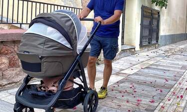 Ο νέος μπαμπάς της showbiz σε έξοδο με το νεογέννητο γιο του (pics)