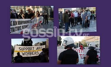 Διαμαρτυρία Καλλιτεχνών: Φωτογραφικό υλικό από την πορεία στο Σύνταγμα