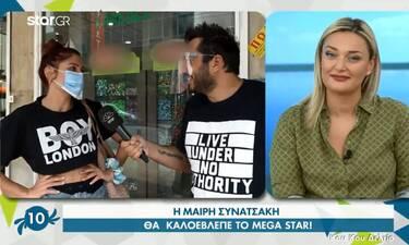 Μαίρη Συνατσάκη: Απαντά στο εάν θα είναι η παρουσιάστρια του Mega Star
