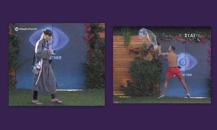 Big Brother: Πέταξε τον κουβά και έκανε μούσκεμα την Άννα Μαρία