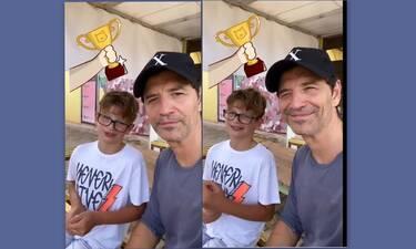 Σάκης Ρουβάς: Πήγε για paintball με τον γιο του, Αλέξανδρο και δείτε τι έπαθε!