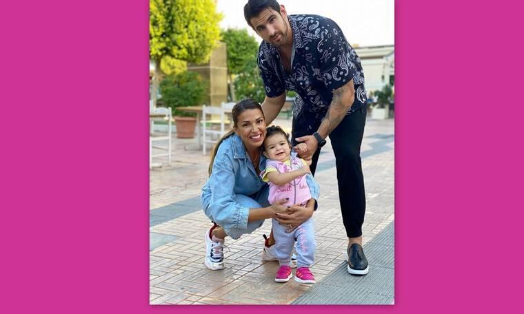 Χατζίδου- Παύλου: Τα πρώτα βήματα της κόρης τους και η οικογενειακή βόλτα!