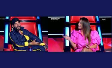 The Voice: «Καβγάς» Μουζουράκη - Παπαρίζου - Στράβωσε η Έλενα με την ατάκα του