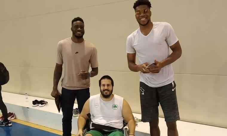 Γιάννης Αντετοκούνμπο: Έκανε έκπληξη σε ομάδα μπάσκετ με αμαξίδιο