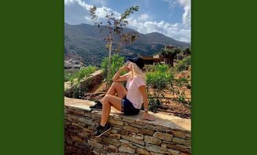 Μενεγάκη: Η θέα από το σπίτι της στην Άνδρο είναι μαγική – Δες τη νέα φώτο