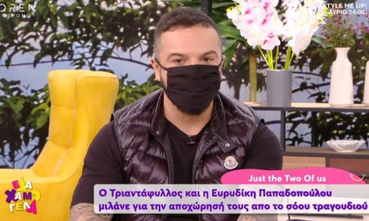 """J2US: Έξαλλος ο Τριαντάφυλλος με τη Σταυροπούλου! """"Σφάχτηκε"""" και με την Ευρυδίκη on air!"""