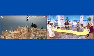 Happy Day: 28η Οκτωβρίου: Τα πλάνα από την έπαρση της σημαίας στην Ακρόπολη