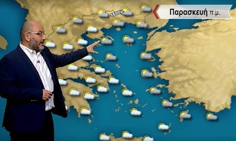 Καιρός - Αρναούτογλου: Πού θα βρέξει και πού θα χιονίσει την Παρασκευή;