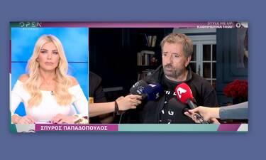 Σπύρος Παπαδόπουλος: «Όχι, δεν θα δείτε τον Πλούταρχο στην εκπομπή»