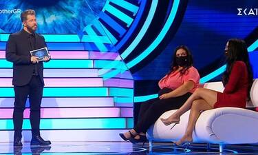 Big Brother: Αφροδίτη και Χριστίνα με μάσκες στο πλατό του ριάλιτι