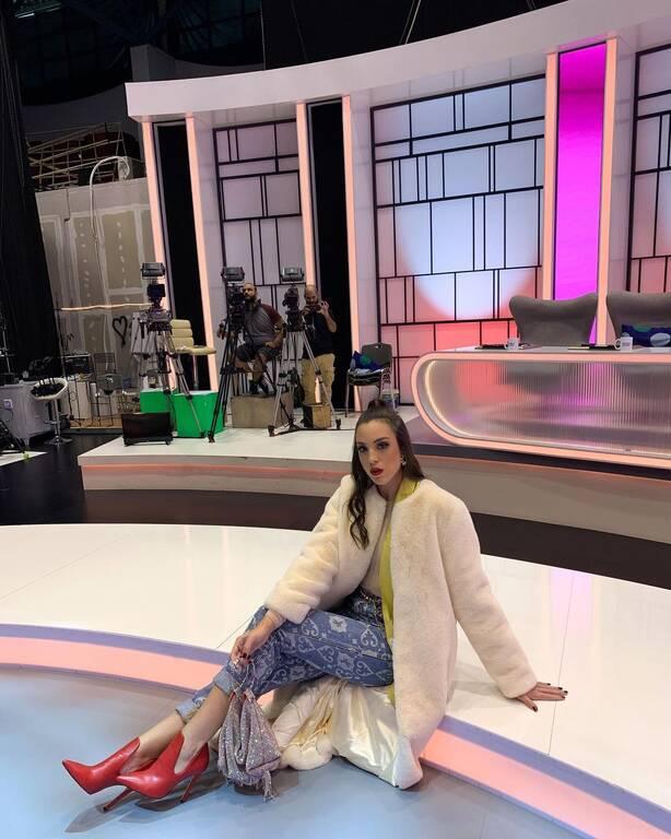 Η Μαρία Χριστίνα Περγαλιά στο πλατό του My style rocks.