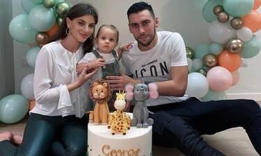 Δώνης - Χατζηανδρέου: Τα πρώτα γενέθλια του γιου τους (vid & pics)