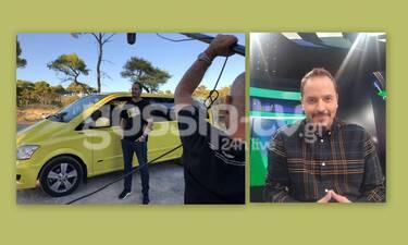 Ταξί: Ο Αλέξανδρος Τσουβέλας στο gossip-tv: Τα γέλια στα γυρίσματα και τα ουρλιαχτά των περαστικών!