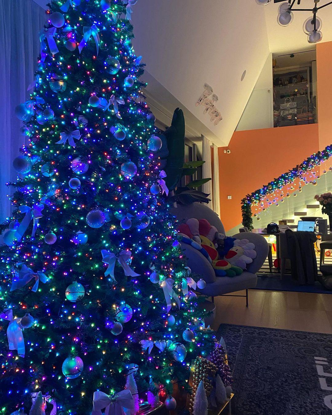 Μας έδειξε το σαλόνι της και η Χριστουγεννιάτικη διακόσμηση είναι το κάτι άλλο