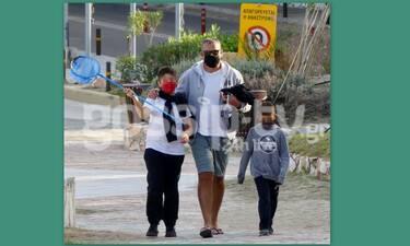 Γιώργος Λιάγκας: Φόρεσε αθλητικό σορτσάκι και βγήκε για άθληση με τους γιους του