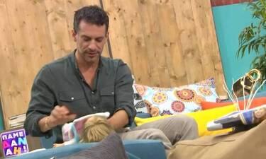 Γιώργος Χρανιώτης: Άλλαξε πάνες μωρού on air! Χαμός στο πλατό!