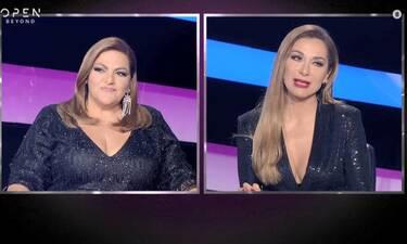 J2US: Πώς έγινε αυτό; Σταυροπούλου και Βανδή με το ίδιο φόρεμα; (video)