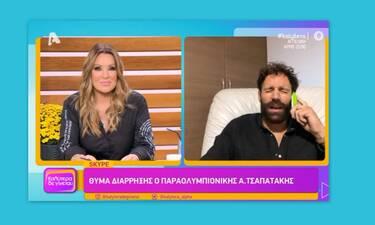 Τσαπατάκης: Οι πρώτες δηλώσεις μετά τη διάρρηξη! Τού πήραν τη δάδα των Ολυμπιακών του '18