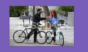 «Τσακώσαμε» ηθοποιό του Alpha σε ποδηλατάδα και με... συνοδό έκπληξη!