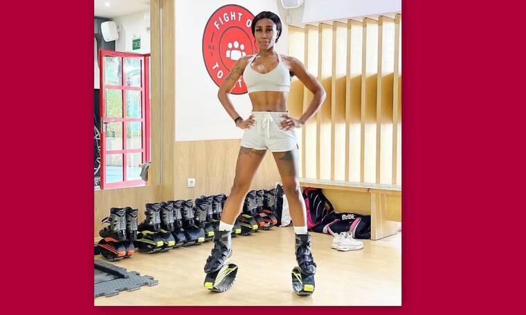 Ελίζαμπεθ Ελέτσι: Μας καθηλώνει στην καραντίνα με το πιο hot fitness trend... Kangoo Jumps