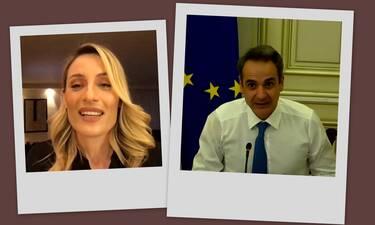 Ελεονώρα Μελέτη: Συντόνισε διαδικτυακή συζήτηση για κακοποιημένες γυναίκες παρουσία του πρωθυπουργού