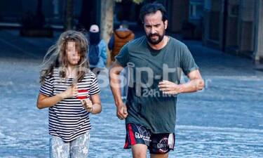 Τάσος Νούσιας: Η γυμναστική και η σπάνια εμφάνιση με την κόρη του!