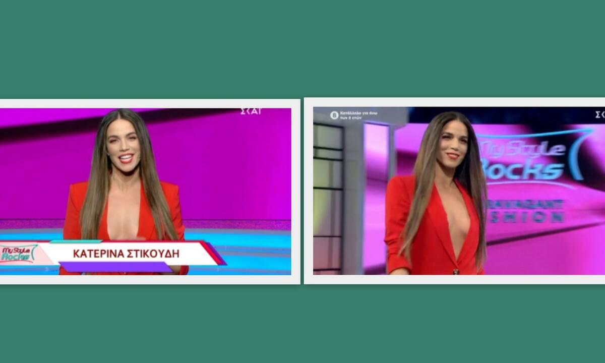My Style Rocks - Gala: Φωτιά στα κόκκινα η Στικούδη! Το τολμηρό ντεκολτέ