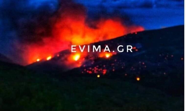 Συναγερμός στην Εύβοια: Μεγάλη φωτιά στο Ρεούζι