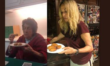 Άννα Βίσση: Έφτιαξε μελομακάρονα και δεν έφαγε ούτε ένα! Το βίντεο με τη μαμά της