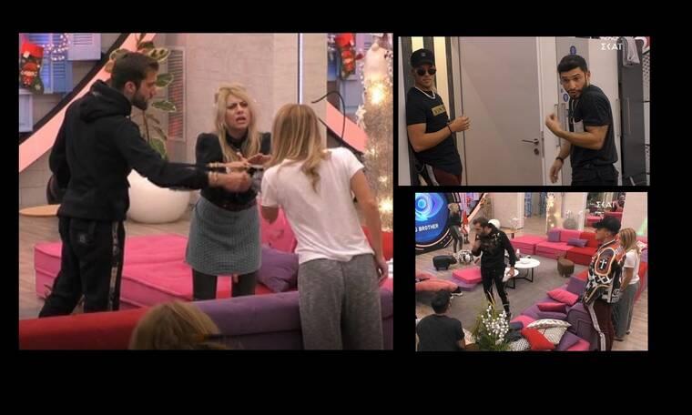 Big Brother: Άγριος καβγάς στο σπίτι - Παραλίγο να πιαστούν στα χέρια!